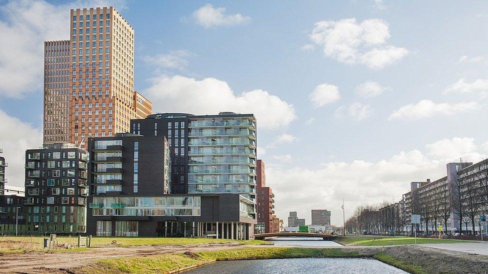 The Zuidas, Ámsterdam.