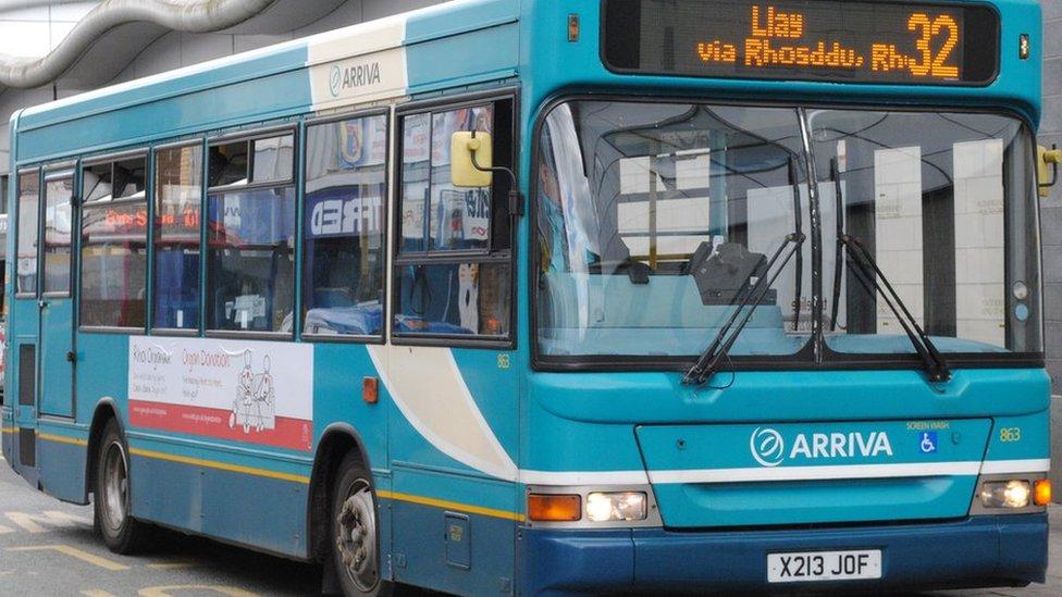 Arriva bus at Wrexham Bus Station