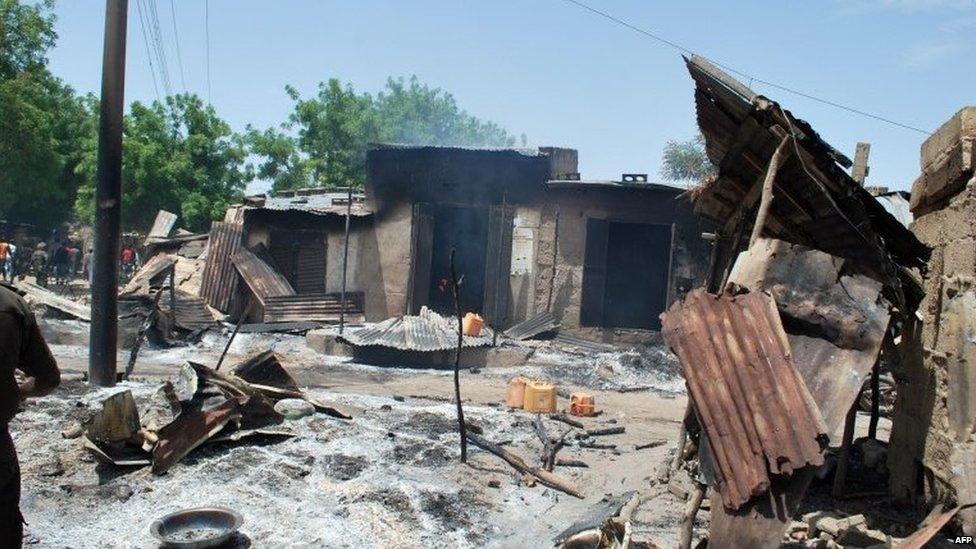Aftermath of Boko Haram attack in Zabarmari, Nigeria, 4 July 2015