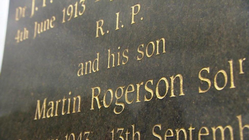 Martin Rogerson's grave