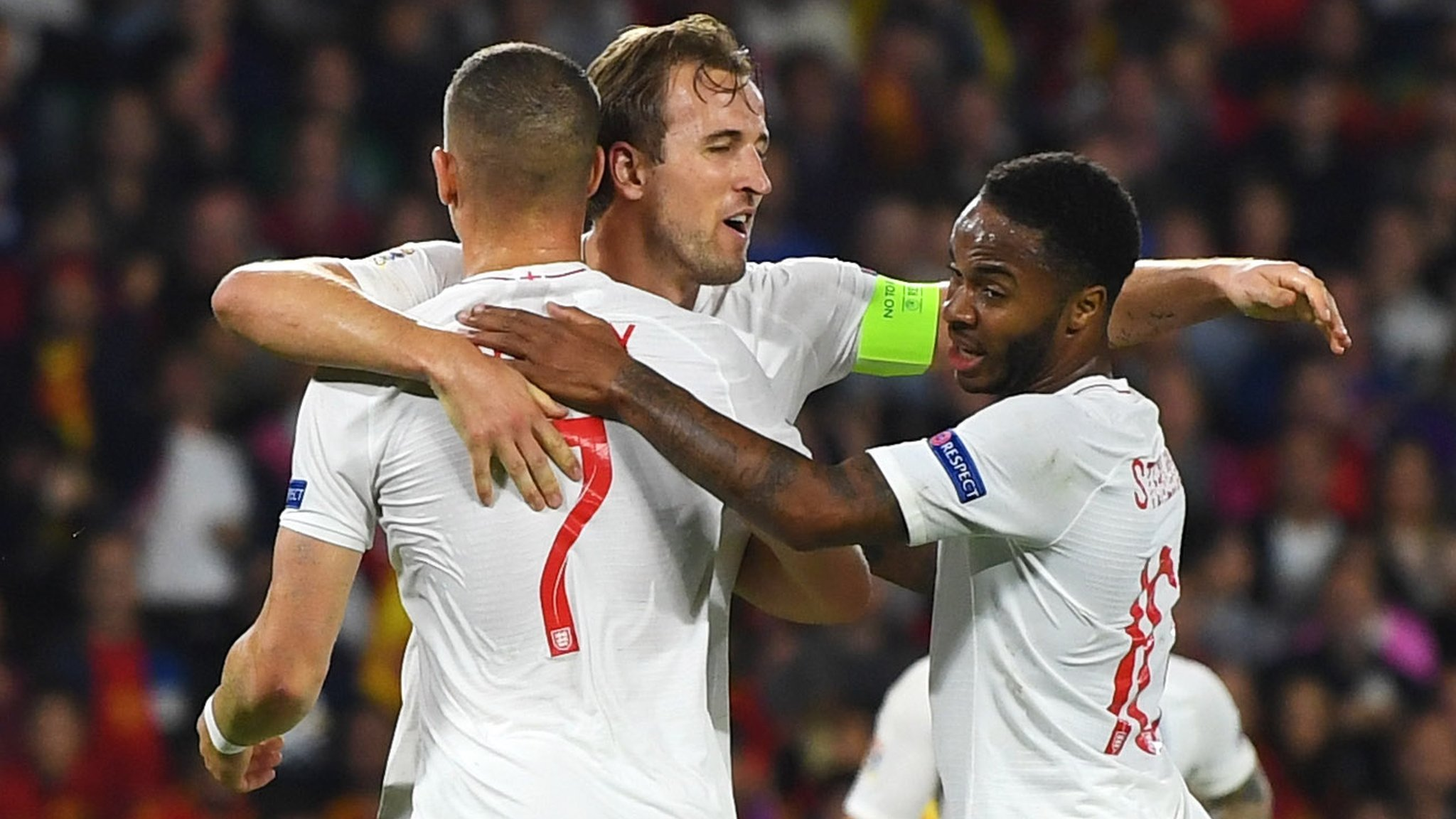 Sterling scores twice as England stun Spain