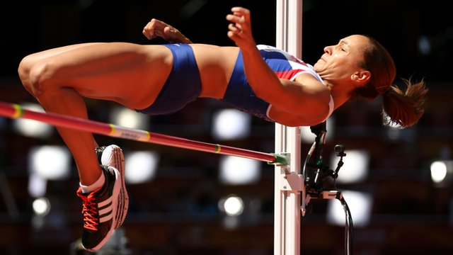 Jessica Ennis-Hill in action at the World Championships in Beijing