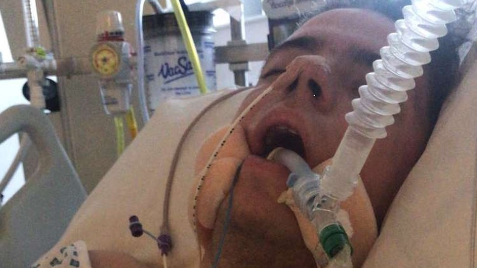 Matthew Griffin in hospital