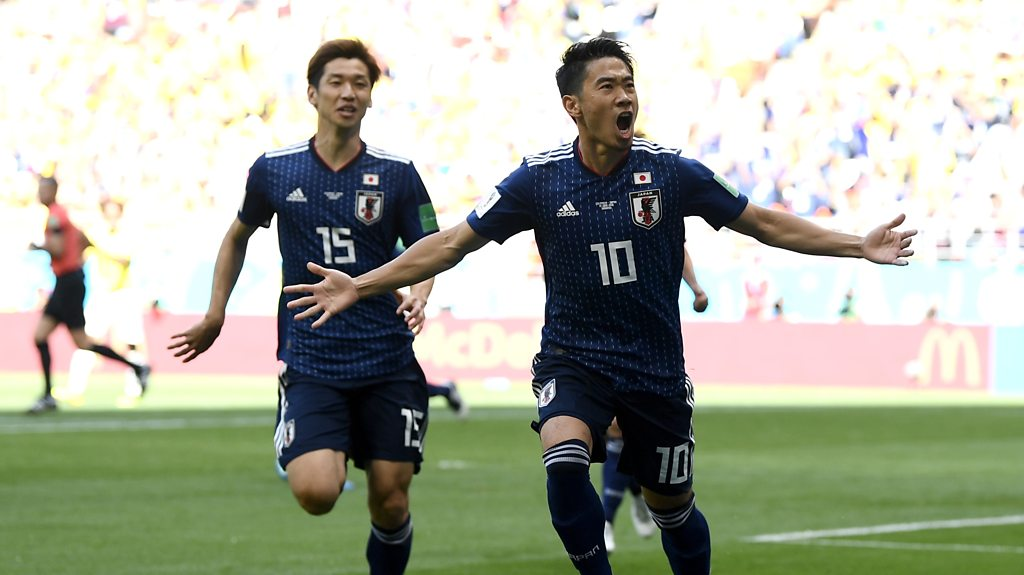 World Cup 2018: Carlos Sanchez sent off as Kagawa slots home penalty for Japan