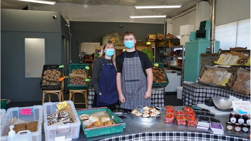 Owen set up a farm shop business with the help of his parents