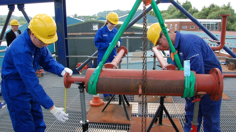 Trainee pipe fitters