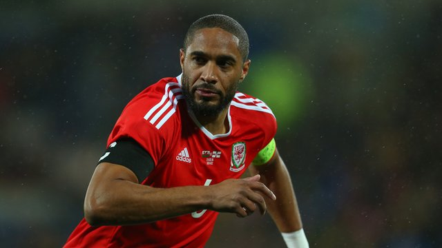 Wales captain Ashley Williams in the friendly match against Northern Ireland in March 2016