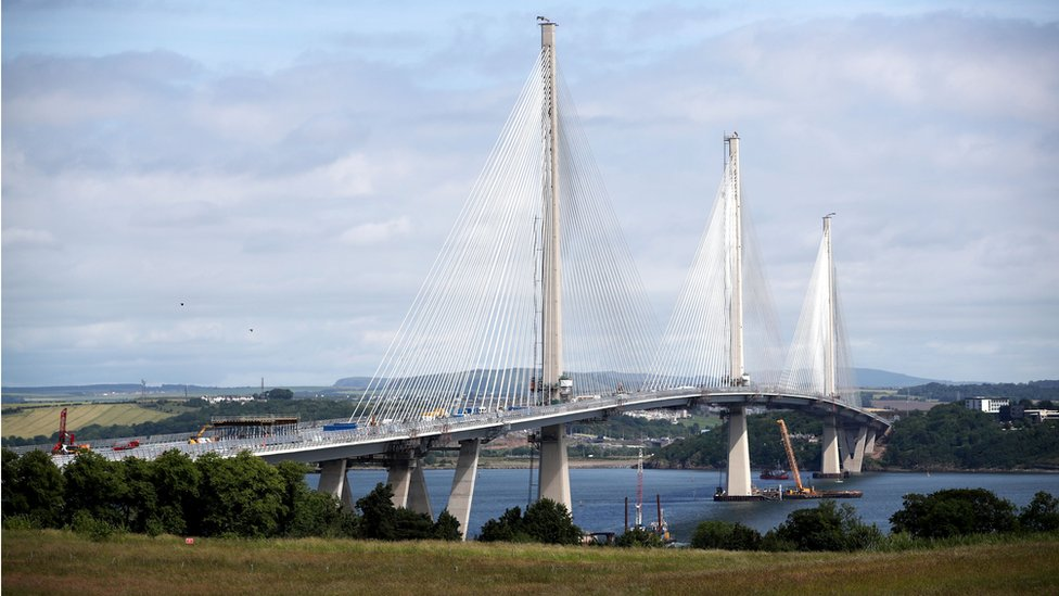 File photo dated 20/06/17 of the new Queensferry Crossing bridge from South Queensferry