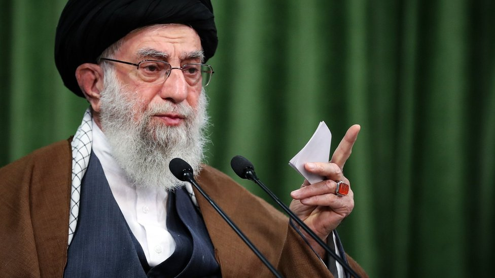 آية الله علي خامنئي في طهران ، إيران ، في 3 نوفمبر 2020