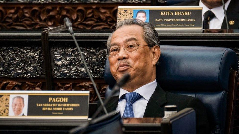 Prime Minister of Malaysia Muhyiddin Yassin in the House of Parliament Malaysia, Kuala Lumpur, Malaysia on July 13, 2020