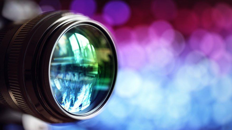 Lente de una cámara