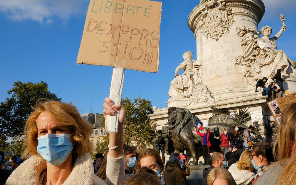 Francia manifestacion.