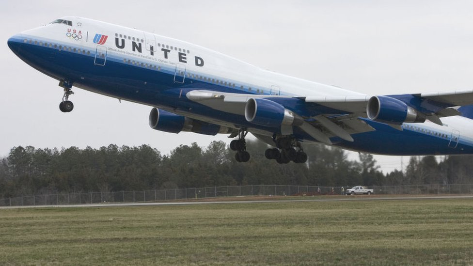 Un avión de United Airlines.