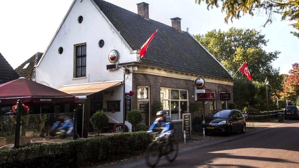 Ruinerwold kasabasındaki bar