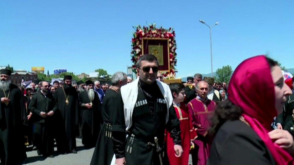 Church demonstration in Tbilisi