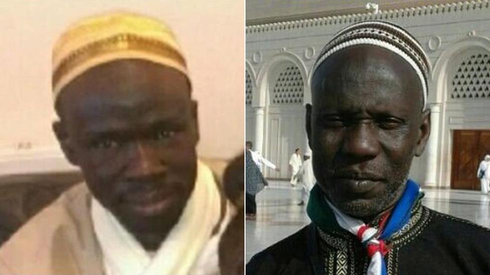 Alimamo Jammeh (l) Bangally Tunkara Dukureh