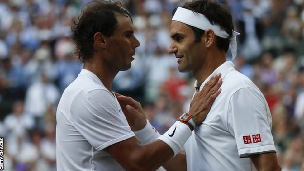 Nadal čestita Federeru posle polufinalnog meča