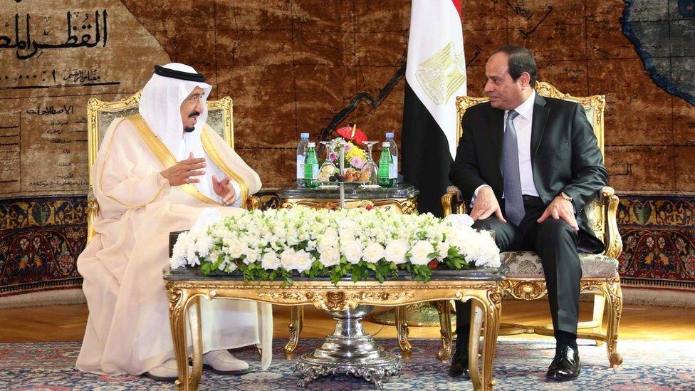 Saudi King Salman and Egyptian President Sisi