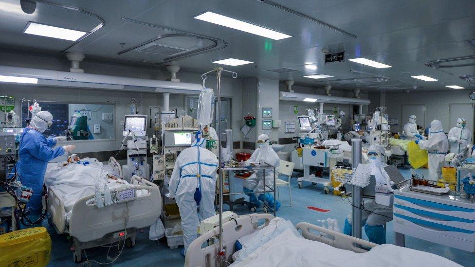 Ala de covid-19 em hospital