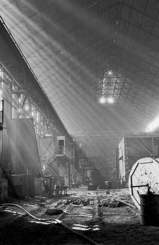 Derelict melting shop at Hadfields, Leeds Road Works