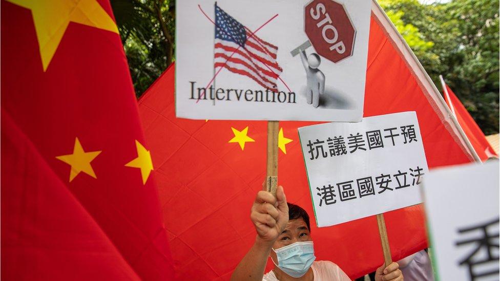 香港建制派陣營反對外國介入港區《國安法》立法。