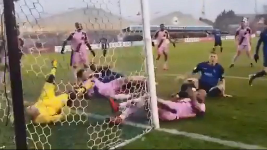 The goalmouth scramble to end all goalmouth scrambles