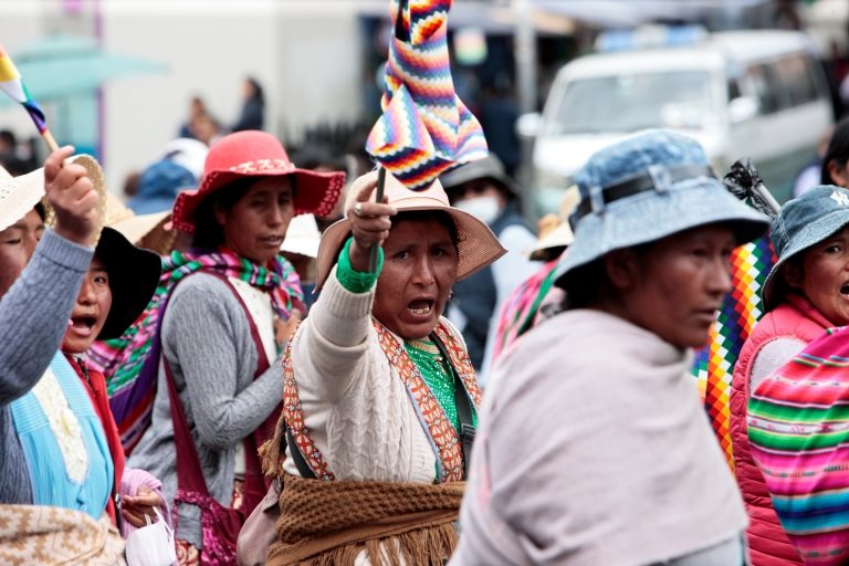 indígenas protestan