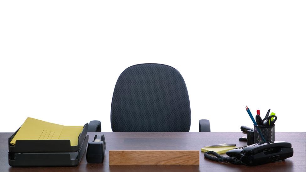 Un escritorio de oficina