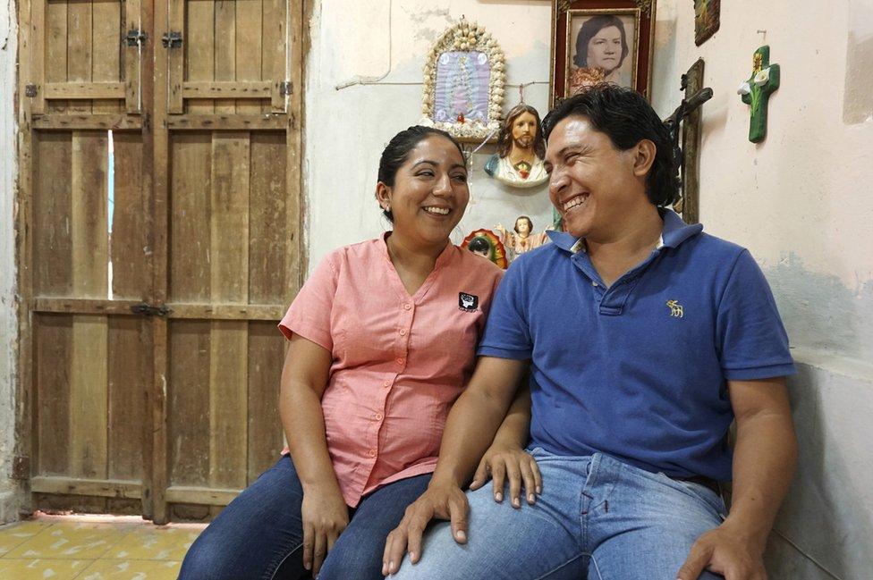 Raimundo, 28, and his wife Lucia, 29