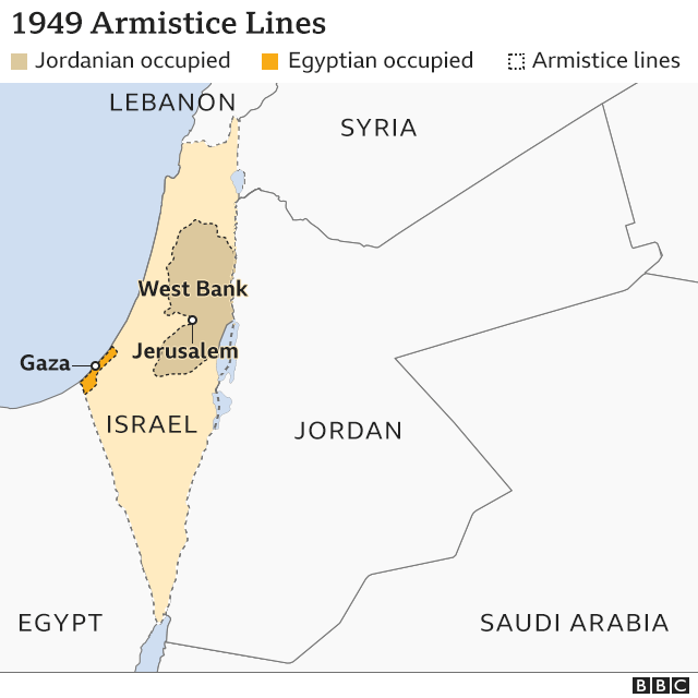 Map of 1949 armistice lines