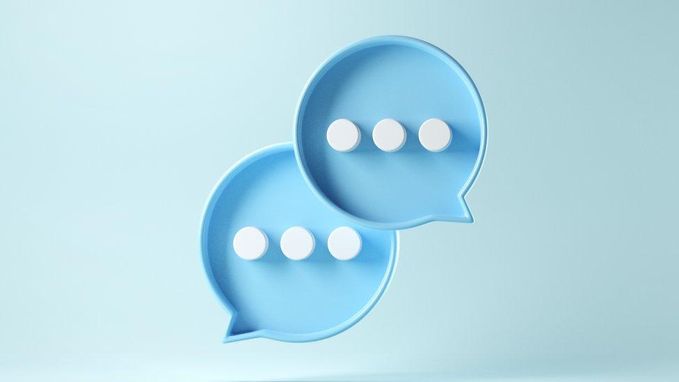 Símbolo de una conversación