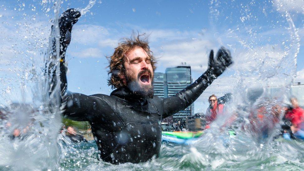 Surfer Heath Joske