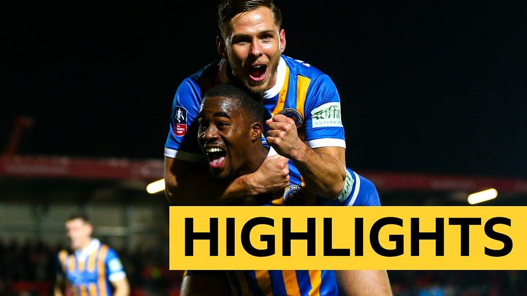 FA Cup: Salford City 1-3 Shrewsbury Town highlights