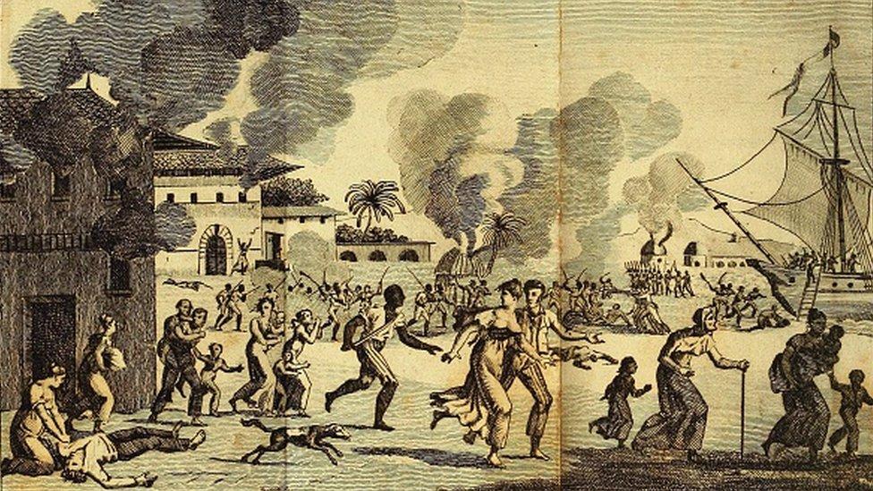 Pemberontakan budak 21 Agustus 1791.
