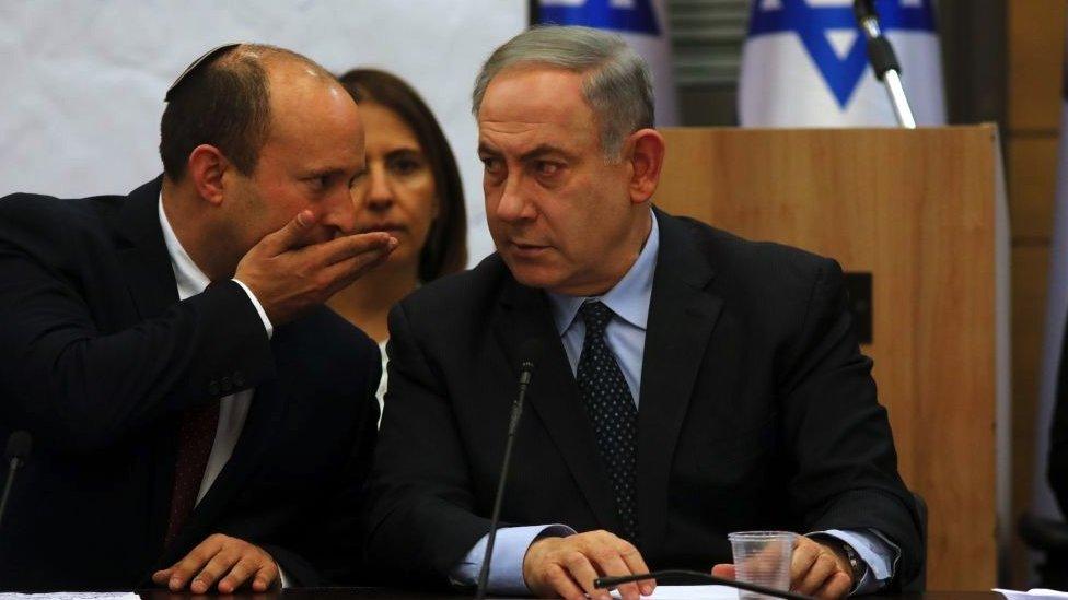 Naftali Bennett y Benjamin Netanyahu.