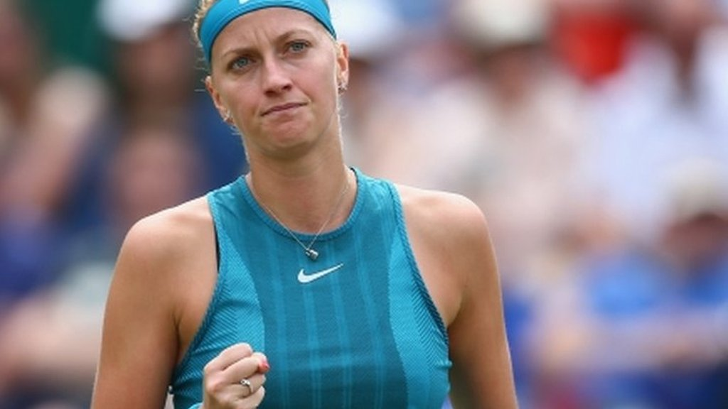 Kvitova sets up Birmingham final against Rybarikova