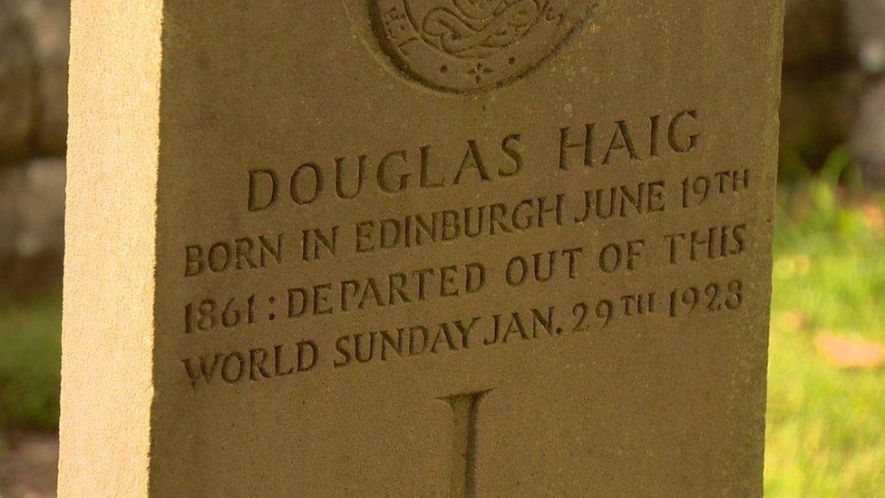 Earl Haig's gravestone