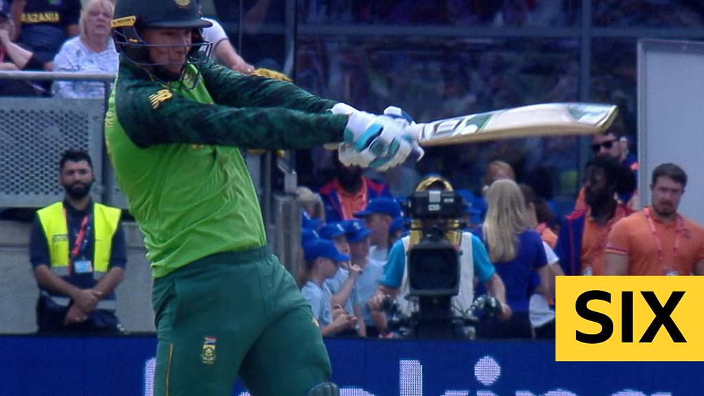 Cricket World Cup: Rassie van der Dussen hits big six as South Africa post 241 v New Zealand