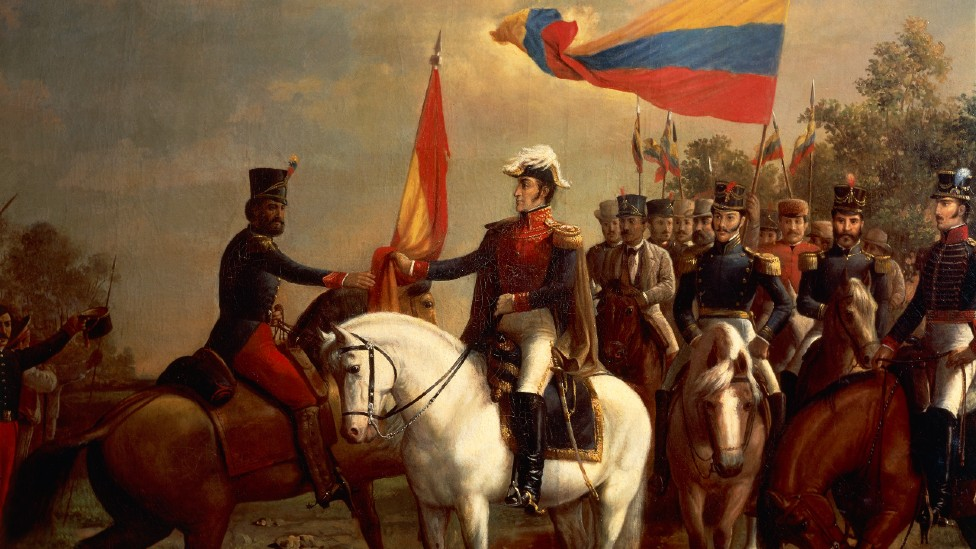 Detalle de la obra de Arturo Michelena sobre la histórica Batalla de Carabobo