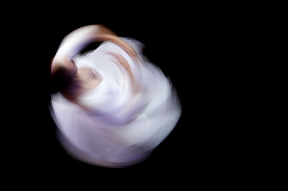 A dancer performs during the Cape Town City Ballet lunch hour concert at the Artscape theatre in Cape Town, South Africa 05 June 2018. The free concert showcased dances from many different ballets including the Cabaret Club, Romeo and Juliette, Giselle and the Nutcracker.