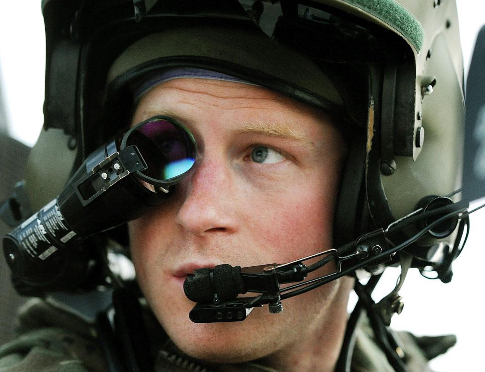 El príncipe Harry en Afganistán en diciembre de 2012.