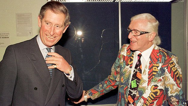 Jimmy Savile and Prince Charles in 1999