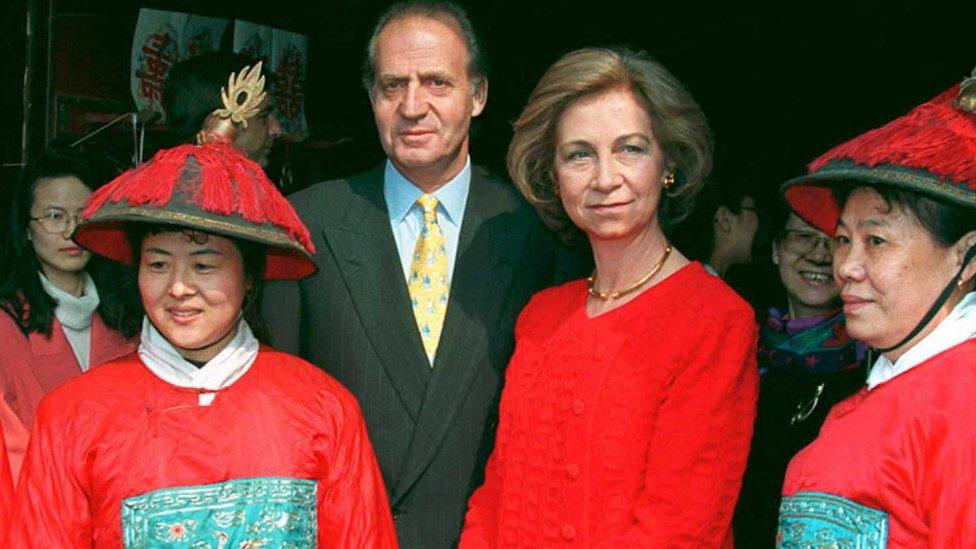 Los reyes Juan Carlos y Sofía, durante una visita a China.