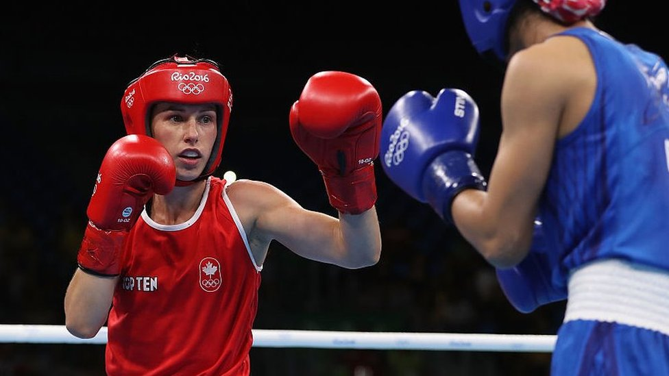 Mandy Bujold competing at Rio 2016