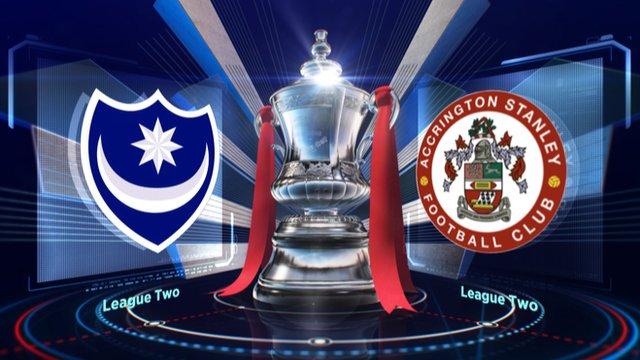 FA Cup: Portsmouth v Accrington highlights