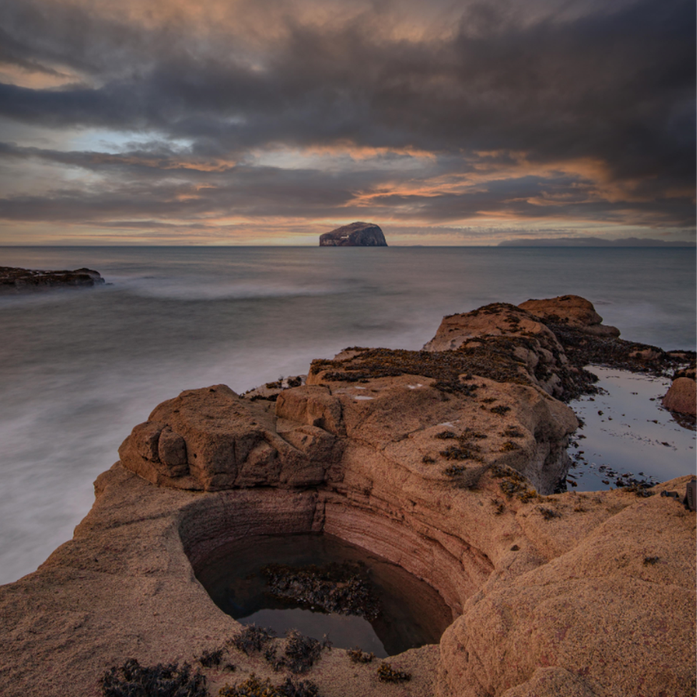 The Bass Rock at sunrise, taken by Dave Cullen.