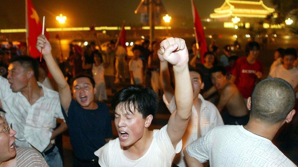 Pendukung Cina tidak menyukai kemenangan Jepang di tahun 2004.