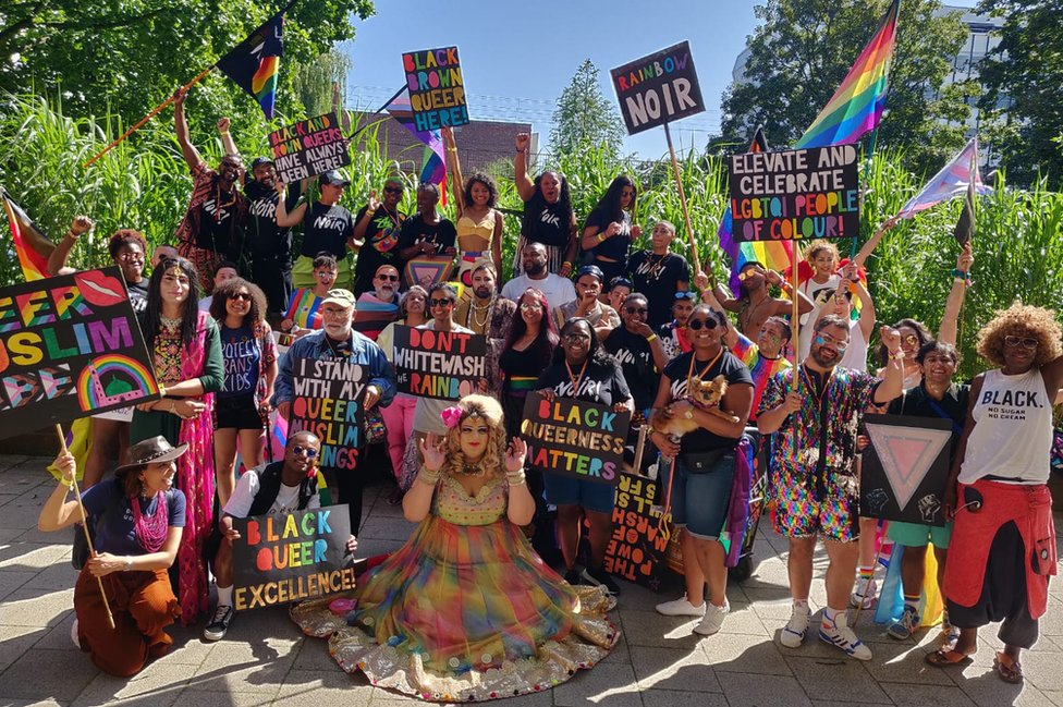A group of BAME Pride-goers