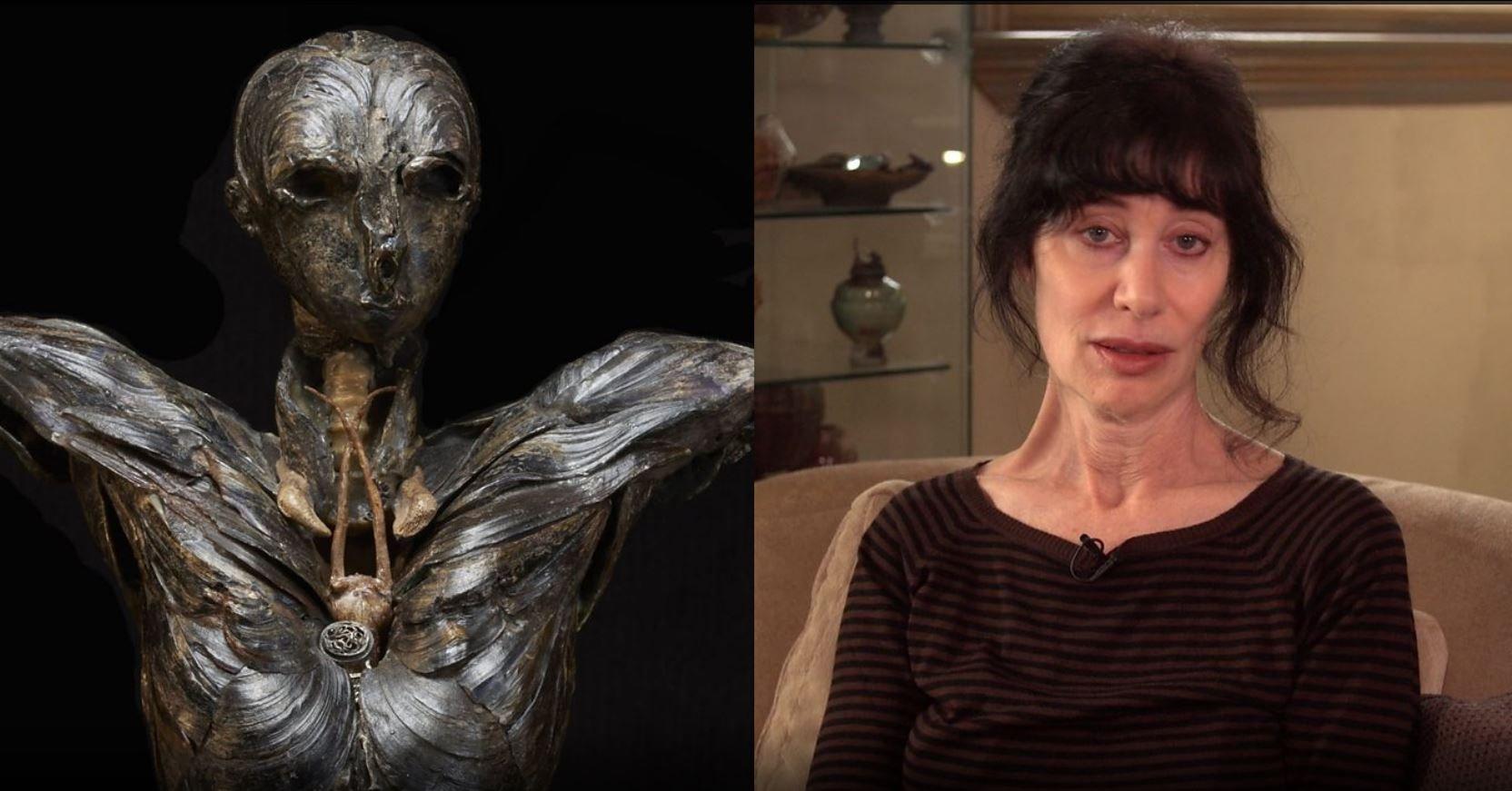 """La escultura """"Adán"""" y Gillian Gensen"""