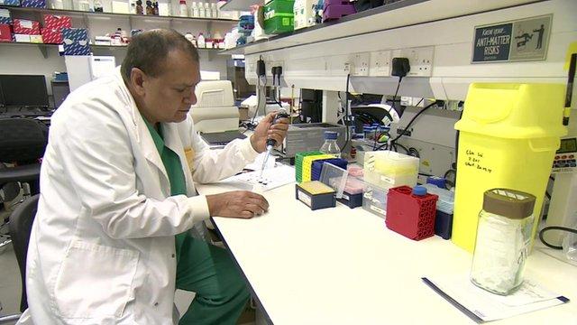 Prof Devinder Kumar in a lab